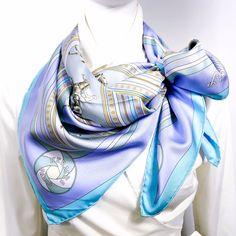Authentic Vintage Hermes Silk Scarf Sequences Pastel Colorway – Carre de Paris