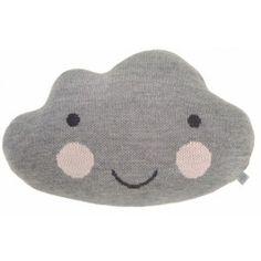 Kussen wolk grijs 55 cm cute cloud pillow