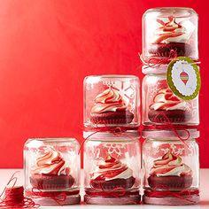 Swirled Cupcake Topper; package cupcakes in mason jars upside down