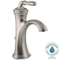 KOHLER Devonshire Single Hole Single Handle Water Saving Bathroom Faucet In  Vibrant Brushed Nickel