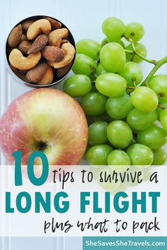 Travel Tips 2019 - 10 Tips for Long Flights -Travel Tips - She Saves She Travels India Travel, India Trip, Travel Tips With Toddlers, Long Flight Tips, Flying With Kids, Iceland Travel Tips, Healthy Snack Options, Long Flights, Save Her