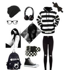 emo black