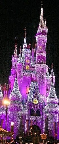 Purple Disney Castle. ♛   ♛~✿Ophelia Ryan ✿~♛