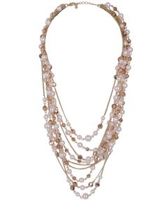 Cascading Pearlescent Necklace | FOREVER21 - 1000011860