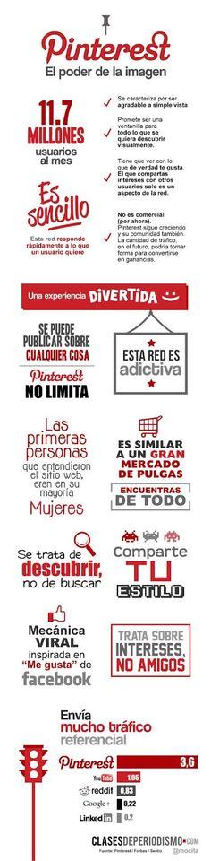 "Pinterest ""El poder de la imagen"" ¡excelente infografia! ;)"