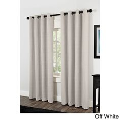 Raw Silk Thermal Insulated Grommet Top Curtain Panel Pair - Overstock Shopping - Great Deals on Curtains