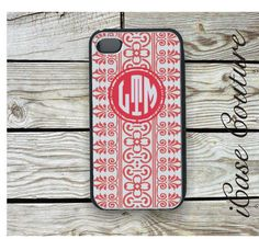 pumpkin monogram chevron iphone 4 case iphone 4s by icasecouture, $16.99