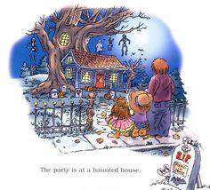 """Happy Halloween, Little Critter!"" by Mercer Mayer, 2004 (http://www.amazon.co.uk/Little-Critter-Halloween-Mercer-Mayers/dp/0060539712/ref=sr_1_1?s=books=UTF8=1374732076=1-1=happy+halloween+little+critter)"