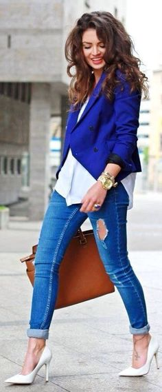 Casual, blue royal