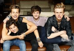 The Vamps - James Mcvey , Connor Ball , Tristan Evans an Brad Simpson. i got this pic on a poster