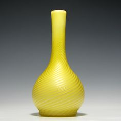 Stevens and Williams Pompeian Swirl Glass Vase c1885