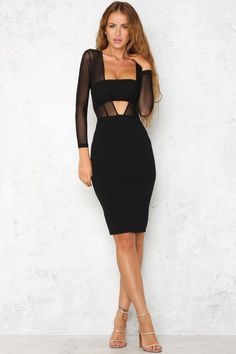 Sidecar Midi Dress Black