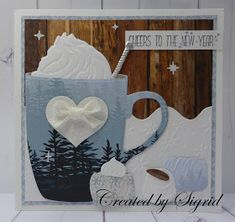 Simple Christmas Cards, Christmas Cross, Xmas Cards, Christmas Ideas, Coffee Cards, Bag Toppers, Marianne Design, Winter Cards, Penny Black
