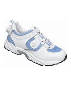 Loving this White & Baby Blue Blaze Leather Sneaker on #zulily! #zulilyfinds