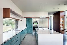 A kitchen we could live in. Awesome #kitchen #design. Inspiration: Alterstudio Architects #Austin