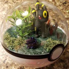 Umbreon is a personal favorite <3  #etsy #etsyshop #etsysellers #Pandanimity #pokerarium #Pokemon #PokemonGo #pokeball #pokemonterrarium #pokeballterrarium #terrarium #handmade #Umbreon