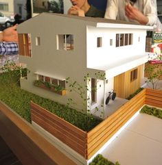 Scale Model Architecture, Maquette Architecture, Architecture Life, Minecraft House Designs, Minecraft Houses, Arch Model, Exterior Design, House Plans, House Styles