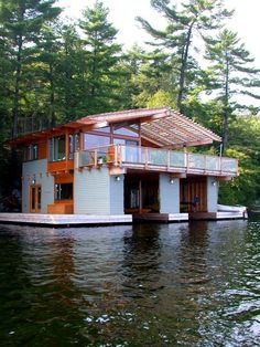 In Toronto Based Studio Altius Architecture Have Designed The Action Island  Boathouse. This Project Is A Square Feet Boathouse Located In Lake Muskoka,  ...