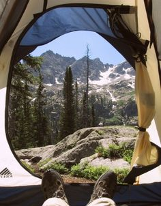 Not a bad view. Can't beat waking up in the mountains, camping in a tent.