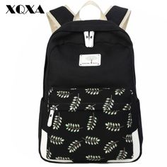 ==>>Big Save onXQXA Women Backpack for Teenager Girls Stylish Ladies Bag Backpack Canvas School Female Black Leaf Printing Mochila FemininaXQXA Women Backpack for Teenager Girls Stylish Ladies Bag Backpack Canvas School Female Black Leaf Printing Mochila Femininayou are on right place. Here we have ...Cleck Hot Deals >>> http://id730514826.cloudns.ditchyourip.com/32698243718.html images