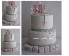 Melissa's First Holy Communion cake All hand made with fondant  @ Home Elegance cakes. www.facebook.com/homeelegancecakes