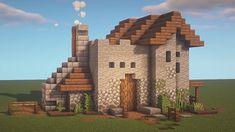 Minecraft Cottage, Easy Minecraft Houses, Minecraft Castle, Minecraft Plans, Minecraft Decorations, Amazing Minecraft, Minecraft Blueprints, Minecraft Creations, Minecraft Memes