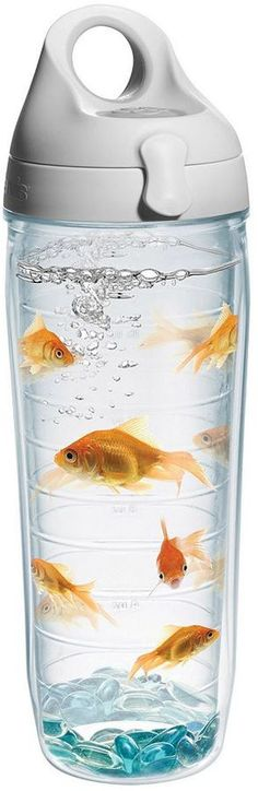 Goldfish 24-oz. Water Bottle - Funny yet cool yet weird - all at the same time #ad