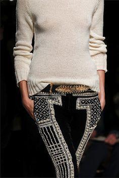 embellished pants by Balmain