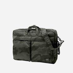 53101b21feaf Porter Tanker 3Way Briefcase Woodland Black Camo