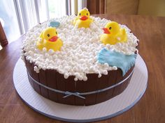 baby boy shower  cakes | Edee's Edible Creations: Boy Rubber Ducky Baby Shower