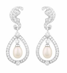 Amazon.com: JanKuo Jewelry C.Z Silver Tone Royal Family Kate Middleton Inspired Bridal, Prom Chandelier Freshwater Pearl Earring: Jewelry