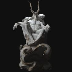 Personal work Demons-Classical sculpture I wanted to practice shaping human anatomy in a gesture other than standing upright. I want to present Satan as a good repentant. Dark Fantasy Art, Dark Art, Ancient Greek Sculpture, Demon Art, Bd Comics, Shadow Art, Dark Photography, 3d Prints, Gothic Art