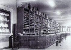 León, fotos antiguas, interior almacenes ridruejo