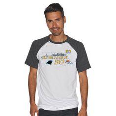 Carolina Panthers vs. Denver Broncos G-III Sports by Carl Banks Super Bowl  50 Dueling Color Block Tri-Blend T-Shirt - White 196aa3ab1