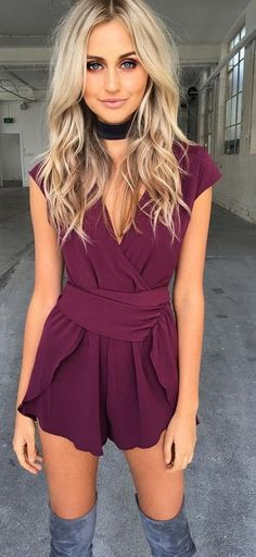 Bordeaux Romper                                                                             Source