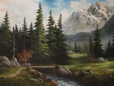 Kevin Hill Gallery (paints in Bob Ross style with big brush and knife)