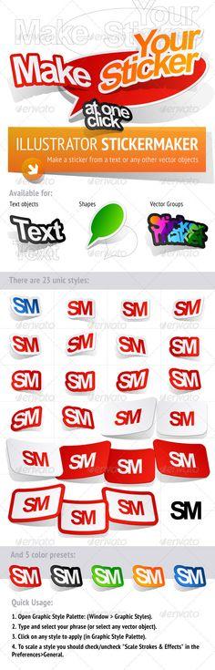 Sticker Maker. Adobe Illustrator Graphic Styles