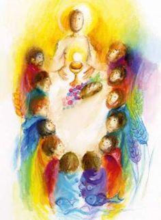 Christian Artwork, Christian Images, Bible Crafts, Bible Art, Catholic Art, Religious Art, Baptism Decorations, Church Nursery, Pentecost