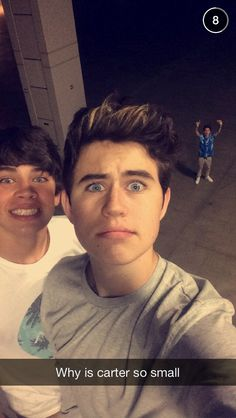 hayes and nash and mini carter in the back lol