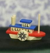 Childs Miniature Toy Boat for the Dollhouse