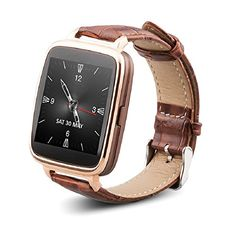 OUKITEL Smart Watch Bluetooth for iPone 6 6 Plus iOS Samsung edge HTC Andriod Smartphone Capacitive Touch Screen Genuine Leather Watchband Magnesium-alloy Body Pedometer Sedentary Reminder Remote Camera Sync Dial Sync Message Intelligent Anti-lost Wearable Device, Wearable Technology, Technology Gadgets, Apple Watch, Watch For Iphone, Iphone 4, Apple Iphone, Bluetooth Watch, Smartwatch Bluetooth