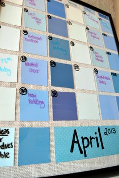 1000 Ideas About Paint Swatch Calendar On Pinterest