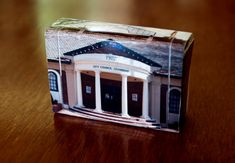 Matchbox Building: Matchbox Miniature of the Queanbeyan Council Building, NSW, Australia.