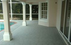 concrete overlays covers your exisiting poolside floor and you do not have to rip out what is already there to start over to enhance your pool side flooring  http://rwolchesky.wordpress.com/