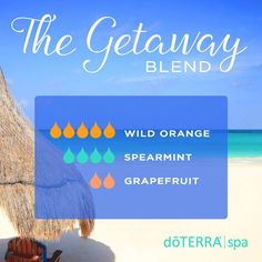 The Getaway Diffuser Blend is the cheapest vacation that you'll have!