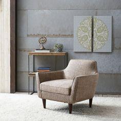 Cruz Mid Century Tan Tweed Chair (Cruz Mid Century Tan Tweed) (Fabric)