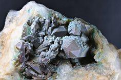 Ajoite in quartz, Musina. Quartz, David, Meat, Crystals, Photos, Food, Pictures, Essen, Crystal