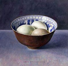 Chinese kom met eieren 2005 (18 x 18 cm)