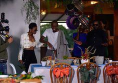 Brenda Fassie themed fish braai with Moshe Ndiki on The Hostess with Lorna Maseko - Behind the scenes