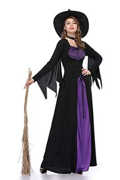 Laku Womens Witch Costume Vintaged Halloween Witch Cosplay Costume >>> Have a look at this fantastic item. (This is an affiliate link). Halloween Costumes Women Creative, Wholesale Halloween Costumes, Halloween Party Costumes, Costume Halloween, Costumes For Women, Halloween Halloween, Costume Ideas, Cosplay Outfits, Cosplay Costumes